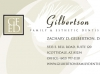 Gilbertson Esthetic Dentistry business card