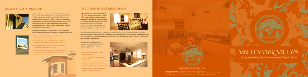 Valley Oak Villas brochure spread